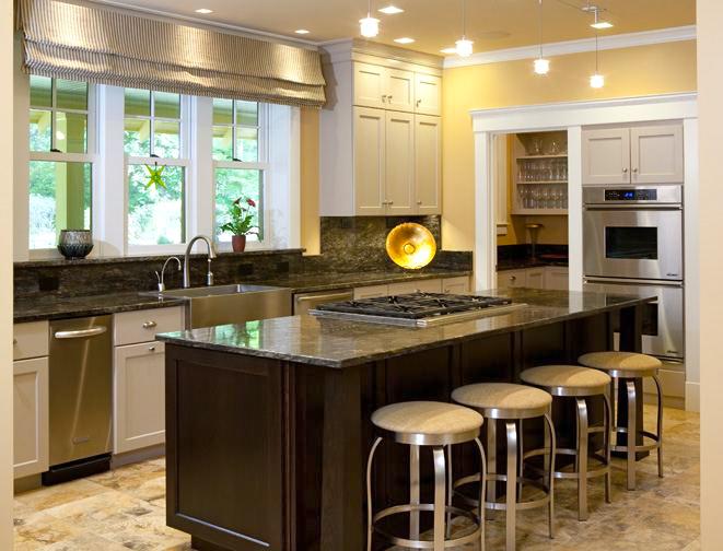 Portfolio kdz designs interior design western ma for Bungalow kitchen layout