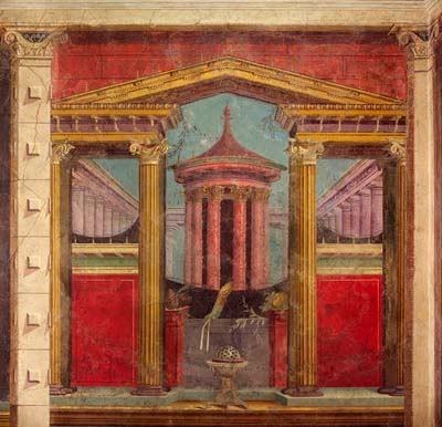 The frescoes of pompeii interior decoration in ancient for Ancient mural villa