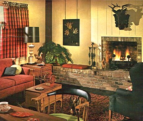 Mantels and mad men kdz designs interior design for 70 s room design