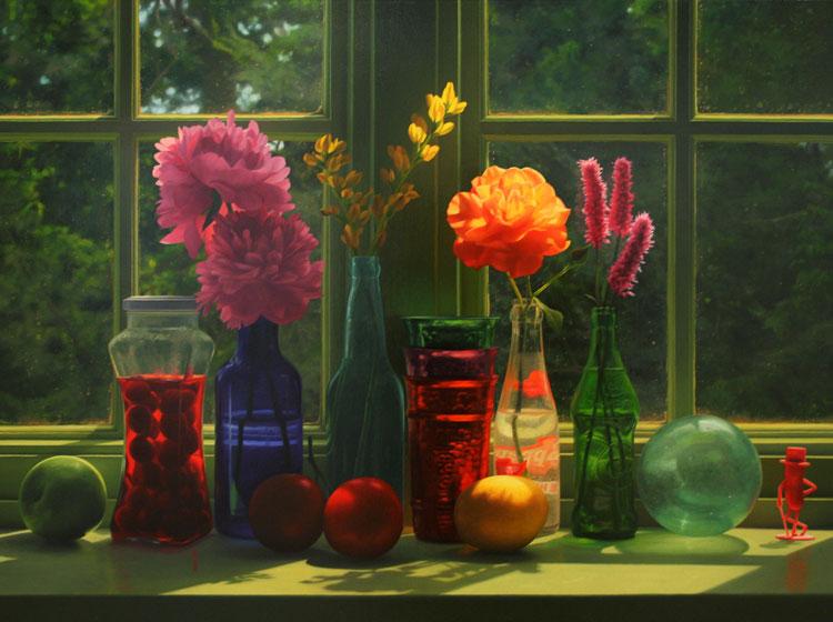 Window in June Scott Prior http://scottpriorart.com/paintings/still-lifes/?pid=106