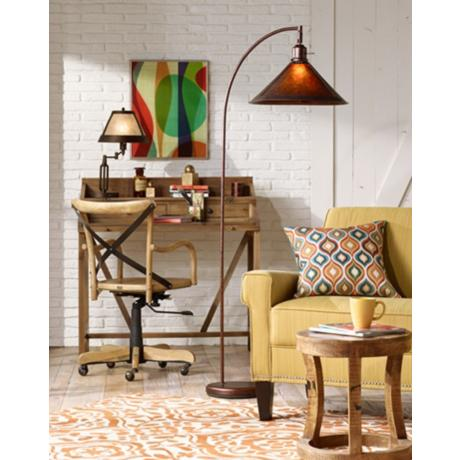 Floor Lamp With Mica Shade Http://www.lampsplus.com/shop
