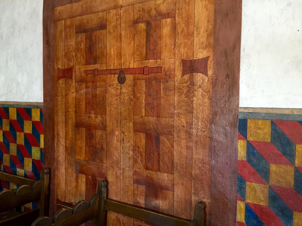 San Xavier - Door flanked by frescoes - Fall l2015 - KDZ Designs
