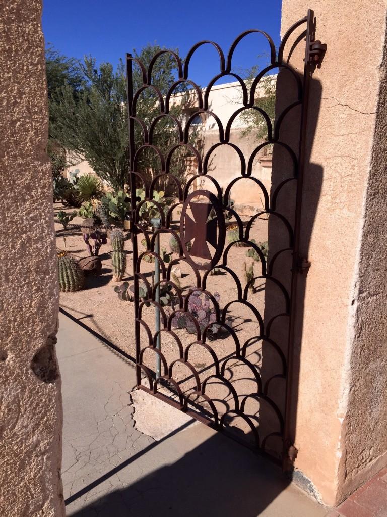 San Xavier Mission - Mortuary Chapel Entrance Gate - Fall 2015 - KDZ Designs