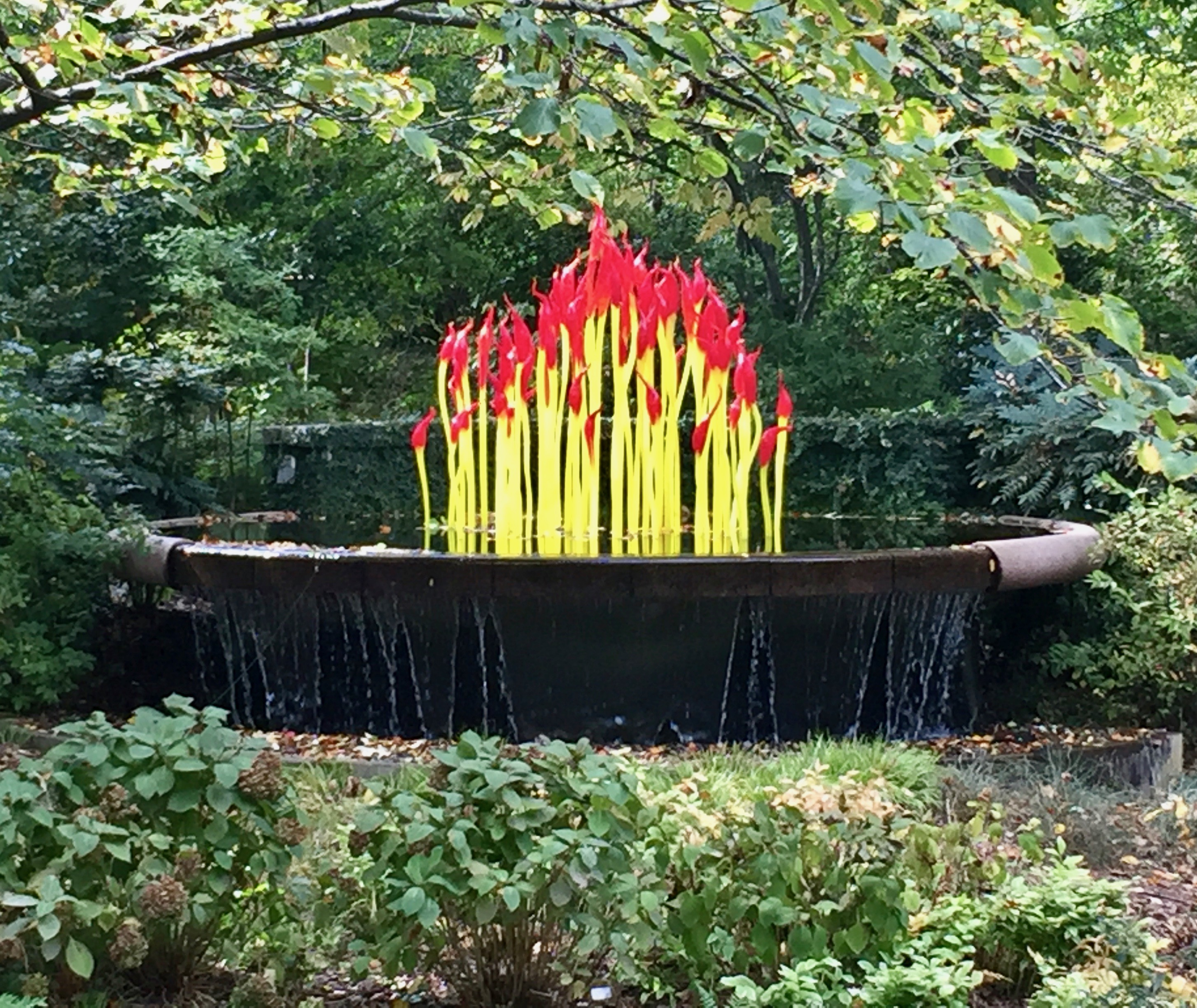 Chihuly Glass Installation At The Atlanta Botanical Garden
